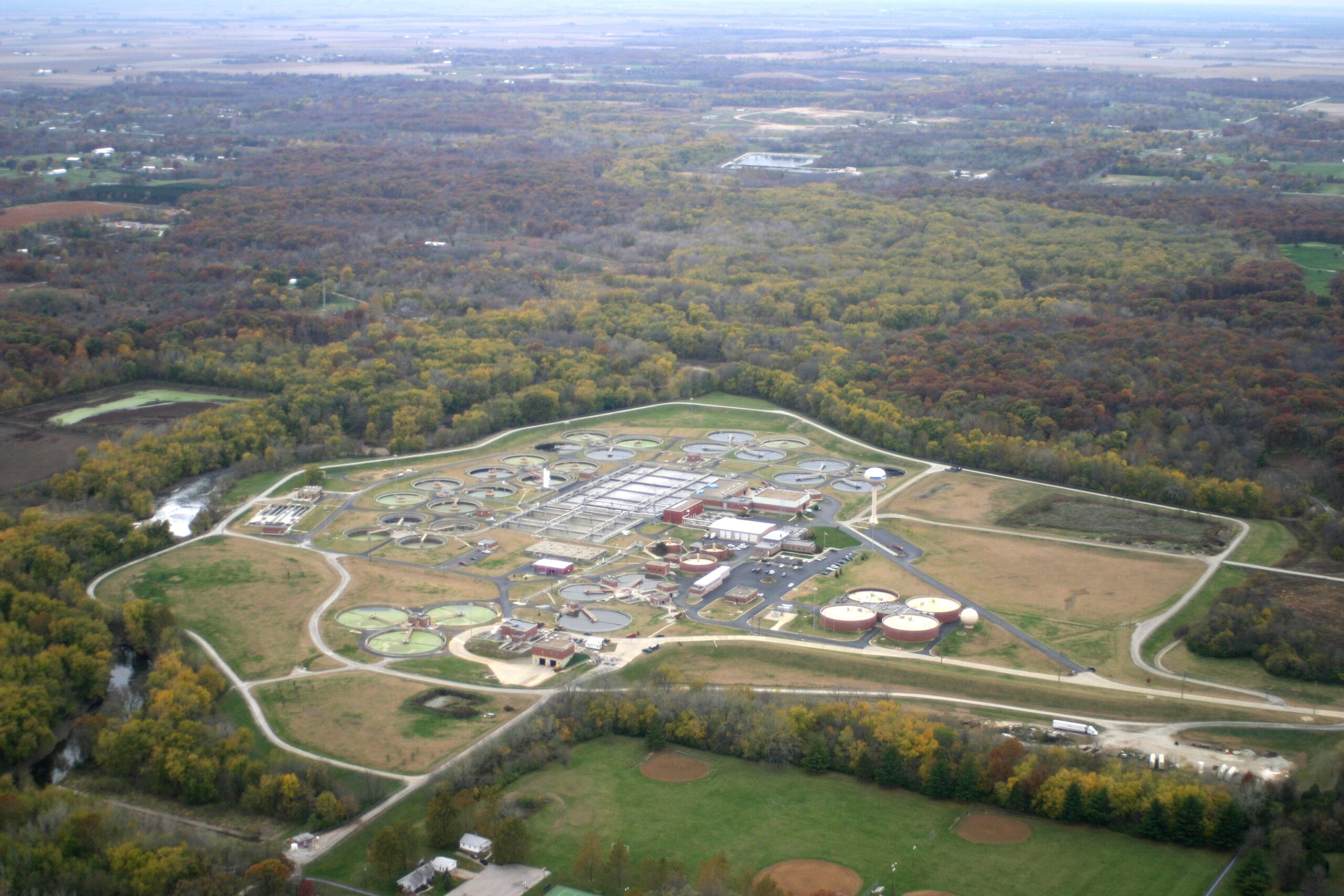 Aerial View of the Sanitary District of Decatur Wastewater Treatment Plant